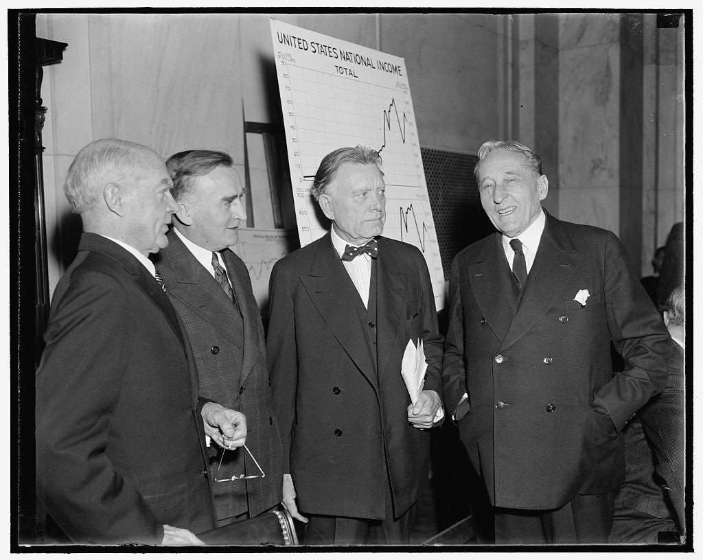 8 x 10 Reprinted Old Photo of In Spotlight As Monopoly Investigating Committee Opens Public Hearings. Washington, D.C., Dec. 1. The Temporary Economic Committee, Joint Legislat 1938 Harris & Ewing 01a