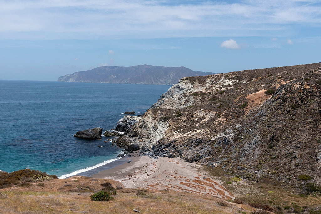 18 x 24 Photograph reprinted on fine art canvas  of Cottonwood Beach on Santa Catalina Island a rocky island off the coast of California r90 2013 May by Highsmith, Carol M.
