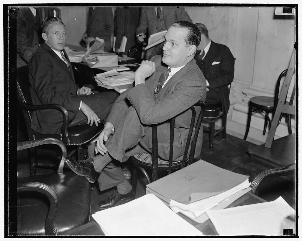 8 x 10 Reprinted Old Photo of Washington, D.C., Dec. 3. Dr. Willard Thorp, Dun And Bradstreet Economist Now With The Commerce Department, Pictured As He Listened To Testimony B 1938 Harris & Ewing 16a