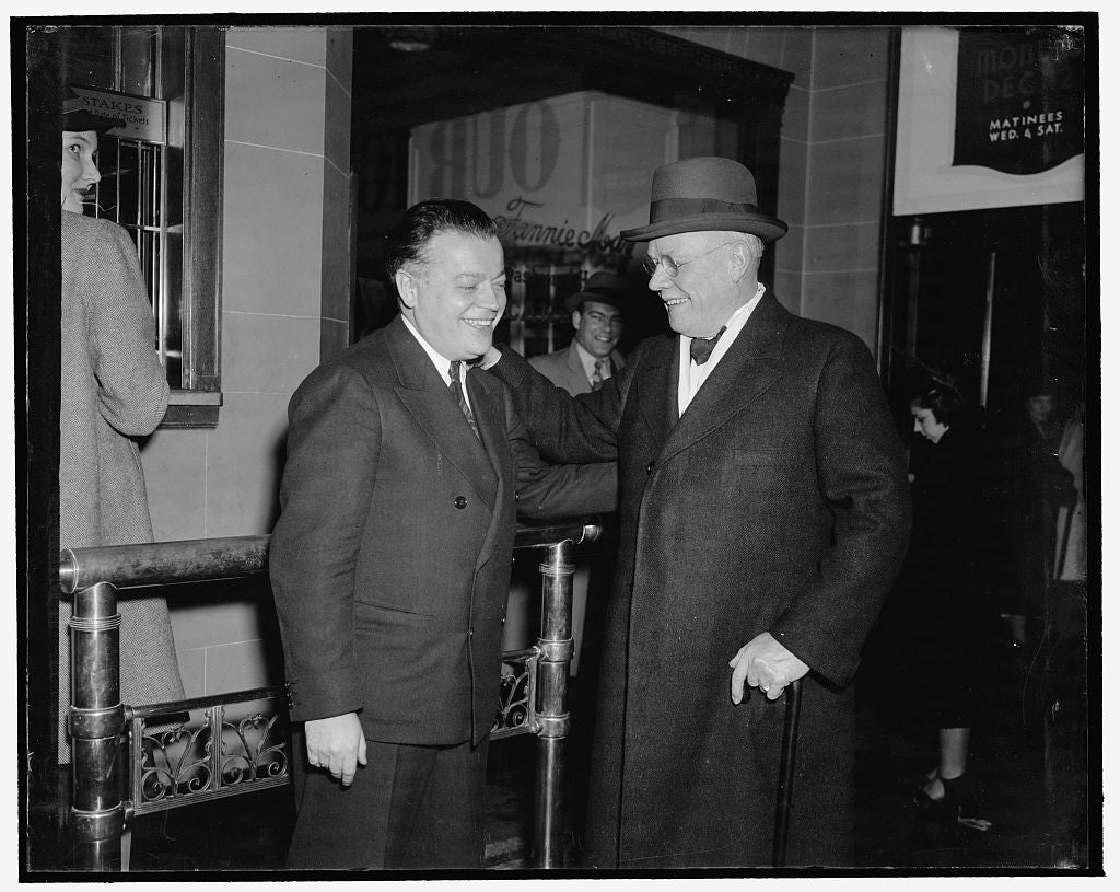 8 x 10 Reprinted Old Photo of Washington, D.C., Dec. 6. A.F. Of L. Head William Green And Davod Dubinsky, President Of The International Ladies Garment Workers Union, Attended  1938 Harris & Ewing 27a