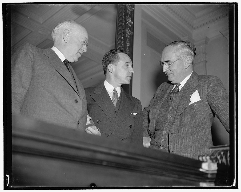 8 x 10 Reprinted Old Photo of Off The Record. Washington, D.C., Dec. 6. Following His Appearance Before The Senate Finance Subcommittee Today, Edsal I.E. Edsel Ford Chats Infor 1938 Harris & Ewing 32a