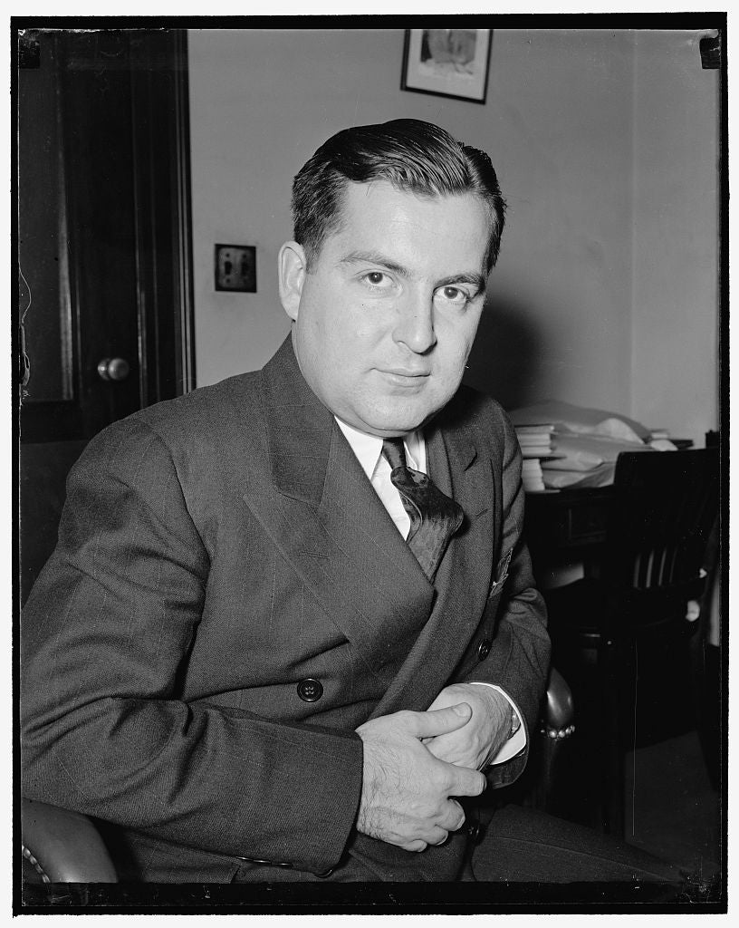 8 x 10 Reprinted Old Photo of William Kaplovitz, Assistant Gen. Counsel, F.C.C. Fox Broadcasting Mag. 1938 Harris & Ewing 48a