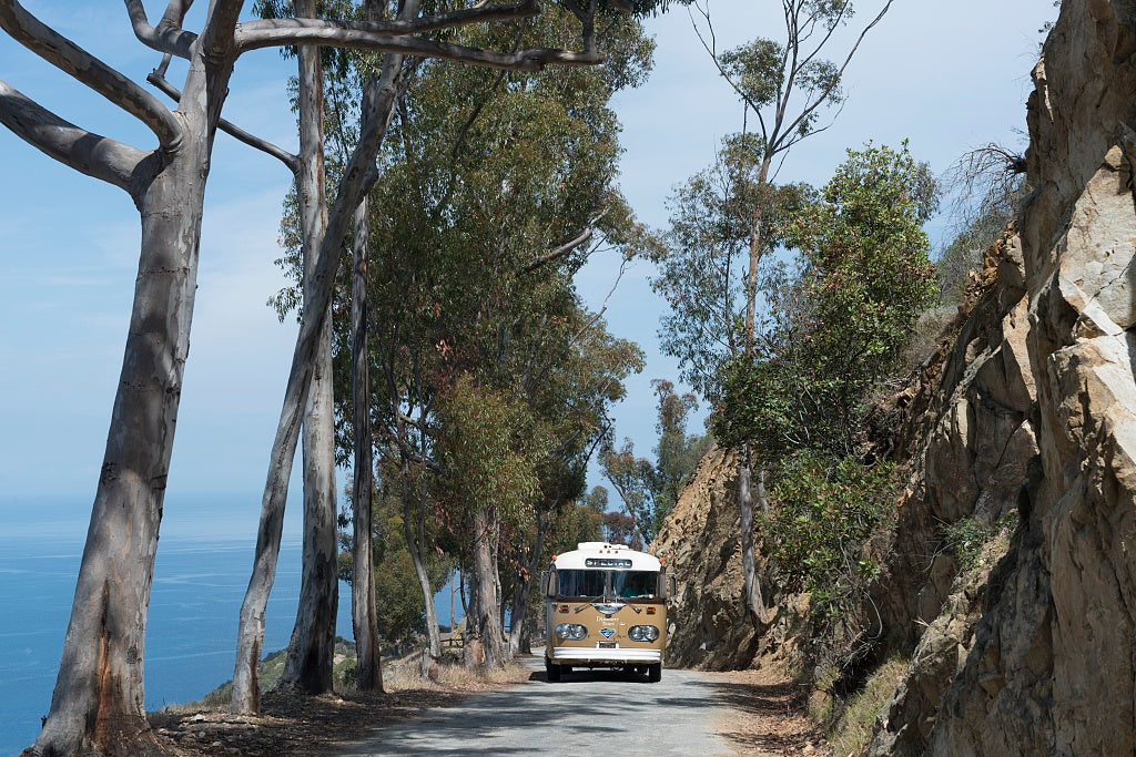 18 x 24 Photograph reprinted on fine art canvas  of Bus Santa Catalina Island a rocky island off the coast of California  r87 2013 June by Highsmith, Carol M.,