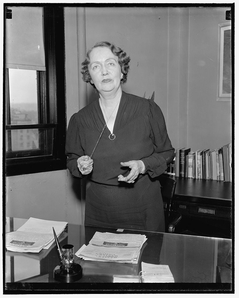 8 x 10 Reprinted Old Photo of Appointed To Social Security Board. Washington, D.C., Dec. 22. Assistant Wpa Administrator Mrs. Ellen S. Woodward Has Been Appointed A Member Of T 1938 Harris & Ewing 09a
