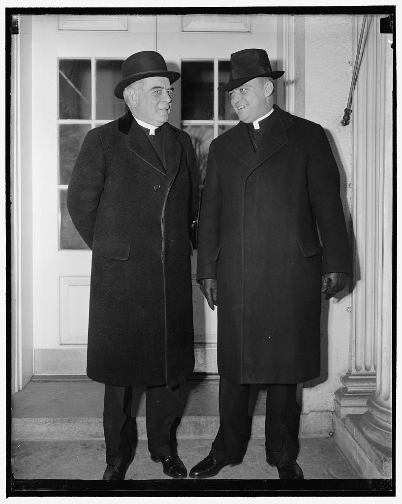 8 x 10 Reprinted Old Photo of Say Farewell To President. Washington, D.C., Dec. 29. Most Rev. James H. Ryan, Bishop Of Omaha, Nebraska And Formerly Rector Of Catholic Universit 1938 Harris & Ewing 62a