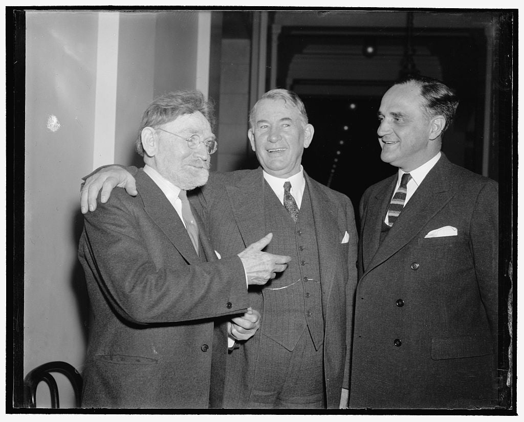 8 x 10 Reprinted Old Photo of Will Lead Democrats In Senate This Session. Washington, D.C., Dec. 31. After A Harmonious Caucus Which Lasted Only 20 Minutes, Senate Democrats To 1938 Harris & Ewing 85a