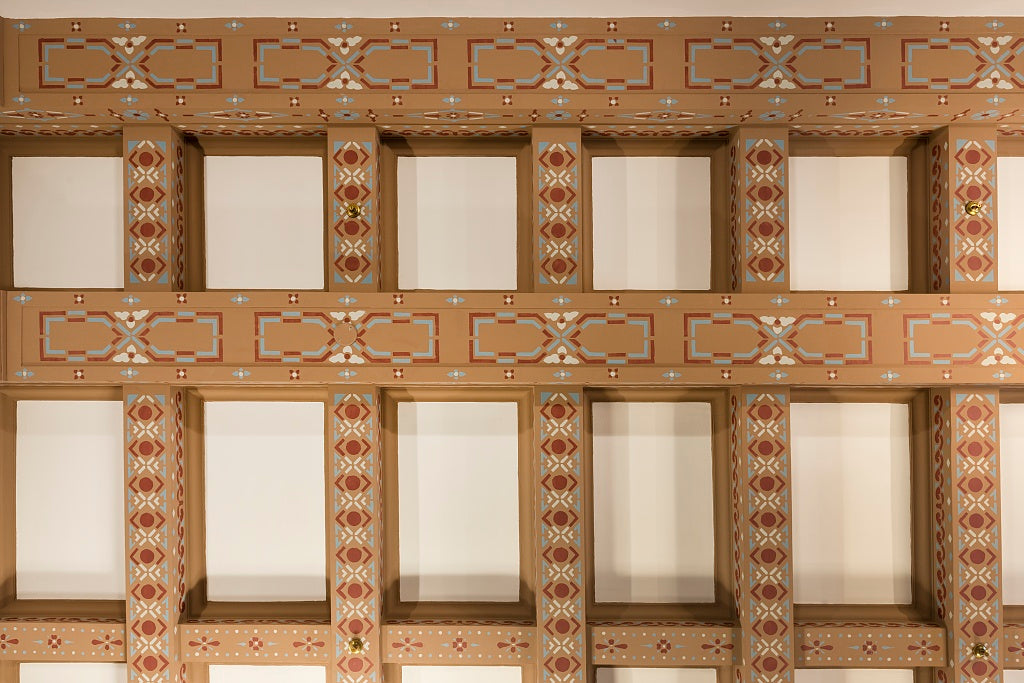 18 x 24 Photograph reprinted on fine art canvas  of Ceiling details. Federal Building and U.S. Courthouse Asheville North Carolina  r25 2013 June by Highsmith, Carol M.,