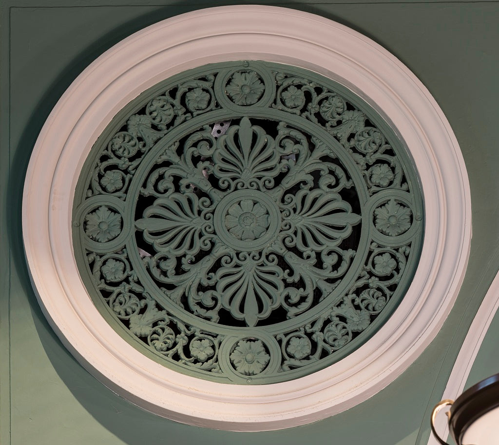 18 x 24 Photograph reprinted on fine art canvas  of Courtroom ceiling detail. U.S. Court House Augusta Georgia  r37 2013 June by Highsmith, Carol M.,