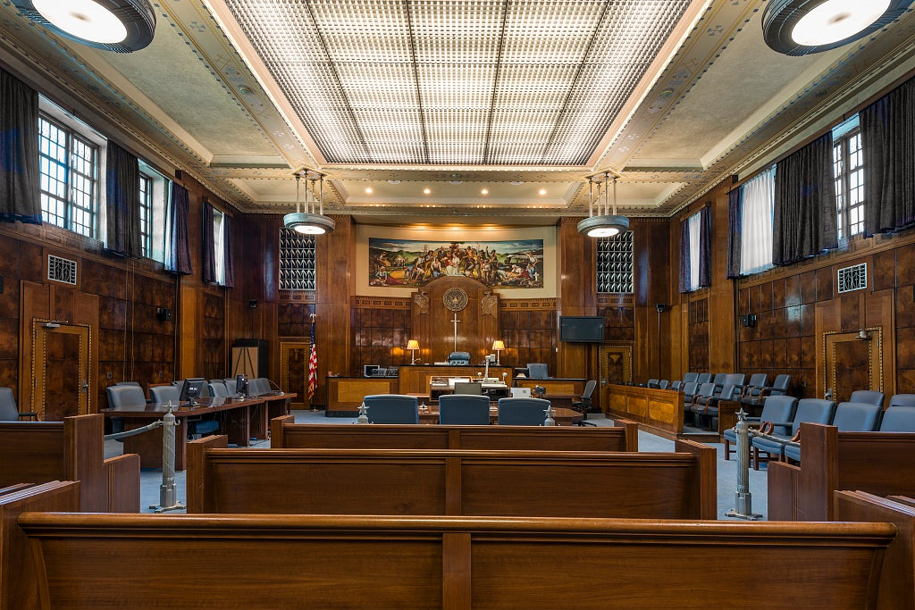 18 x 24 Photograph reprinted on fine art canvas  of Courtroom. The Joel Solomon Federal Building and U.S. Courthouse Chattanooga Tennessee  r47 2013 November by Highsmith, Carol M.,
