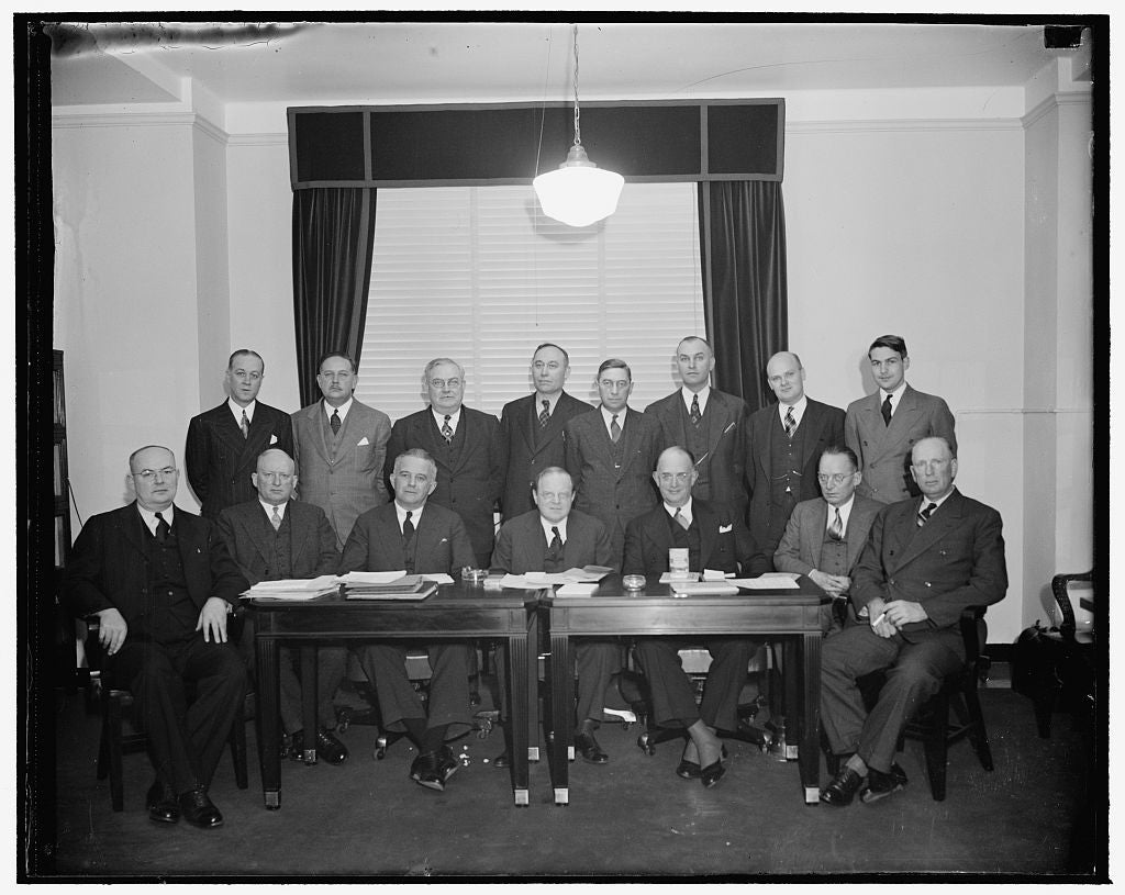 8 x 10 Reprinted Old Photo of Nat'L Mediation Board, 1/3/39 1937 Harris & Ewing 81a