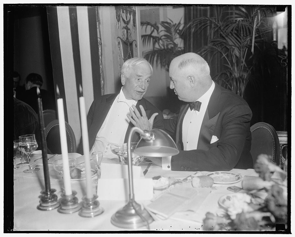 8 x 10 Reprinted Old Photo of At Cummings Testimonial Dinner. Washington, D.C., Jan. 12. Secretary Of State Cordell Hull And Pmg James A. Farley Pictured At Last Night's Testim 1939 Harris & Ewing 02a