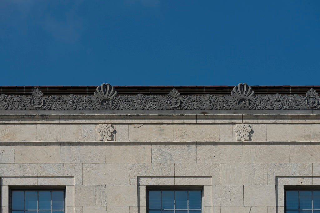 18 x 24 Photograph reprinted on fine art canvas  of Architectural details. The Jack Brooks Federal Building in Beaumont Texas  r26 2013 November by Highsmith, Carol M.,