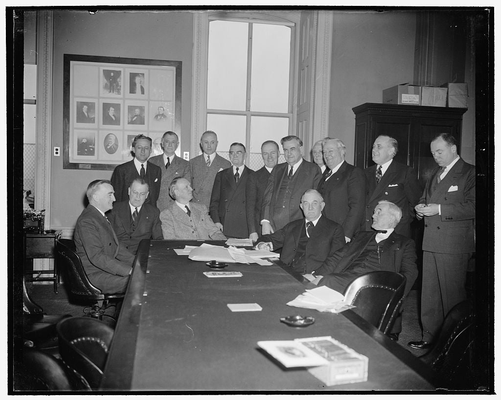 8 x 10 Reprinted Old Photo of Senate Judiciary Committee. Washington, D.C., Jan. 16. The Senate Judiciary Committee Which Today Approved The Nomination Of Felix Frankfurter To  1939 Harris & Ewing 40a