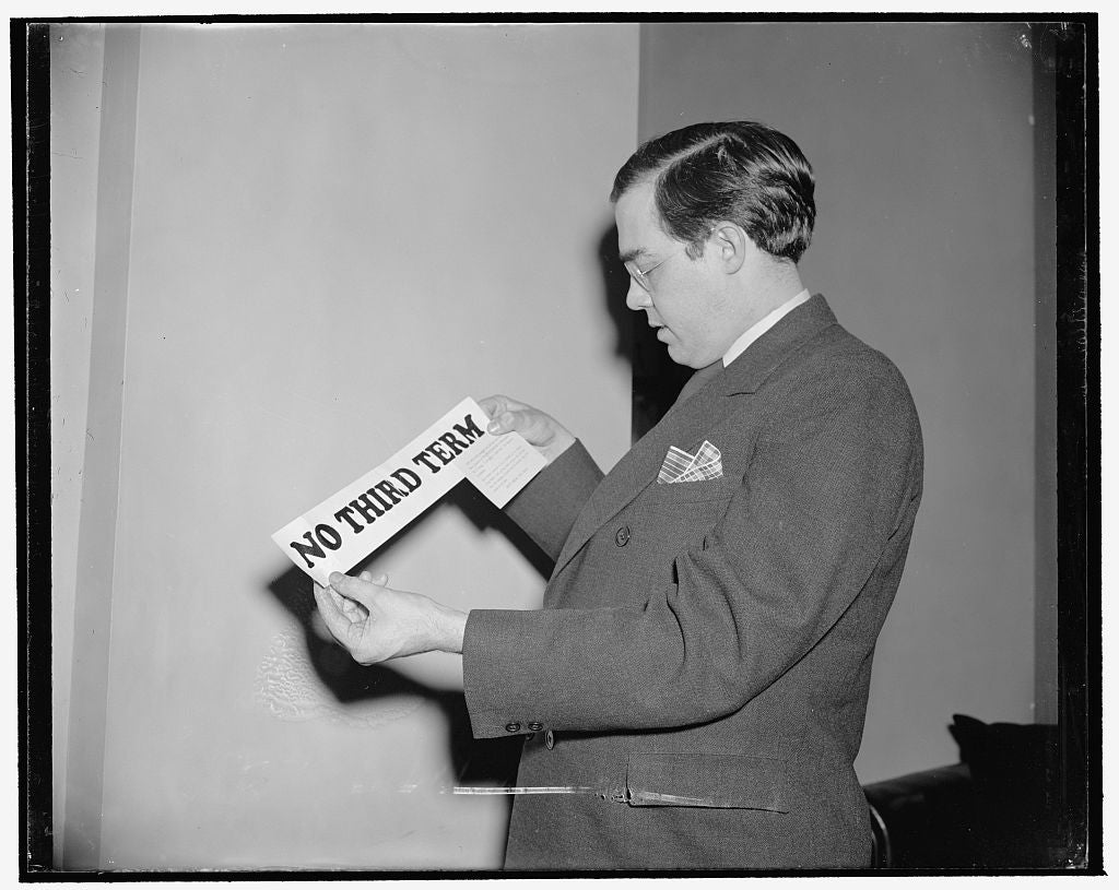 8 x 10 Reprinted Old Photo of Rush Holt Intensifies Drive Against Third Term. Washington, D.C., Jan. 17. West Virginia's Senator, Rush Holt, Outspoken Against A Third Term For  1939 Harris & Ewing 43a
