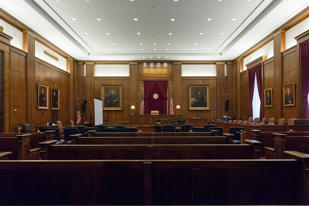 18 x 24 Photograph reprinted on fine art canvas  of Courtroom. Potter Stewart U.S. Post Office and Courthouse Cincinnati Ohio  r53 2013 December by Highsmith, Carol M.,