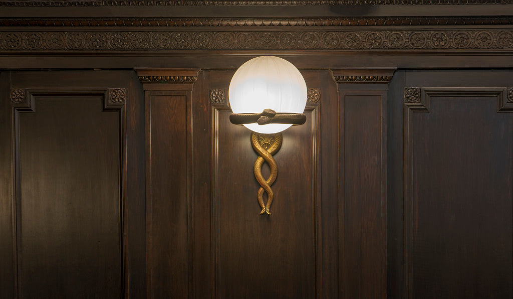 18 x 24 Photograph reprinted on fine art canvas  of Light fixture at the John Minor Wisdom U.S. Court of Appeals Building located in the block bounded by Lafayette Camp Magazine and Capdeville Streets New Orleans Louisiana