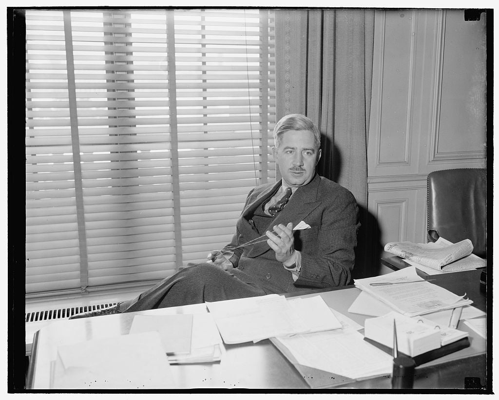 8 x 10 Reprinted Old Photo of Named Assistant Secretary Of Labor. Washington, D.C., Jan. 20. Marshall E. Dimock, Of Chicago, Who Was Recently Named Second Assistant Of Labor, A 1939 Harris & Ewing 05a