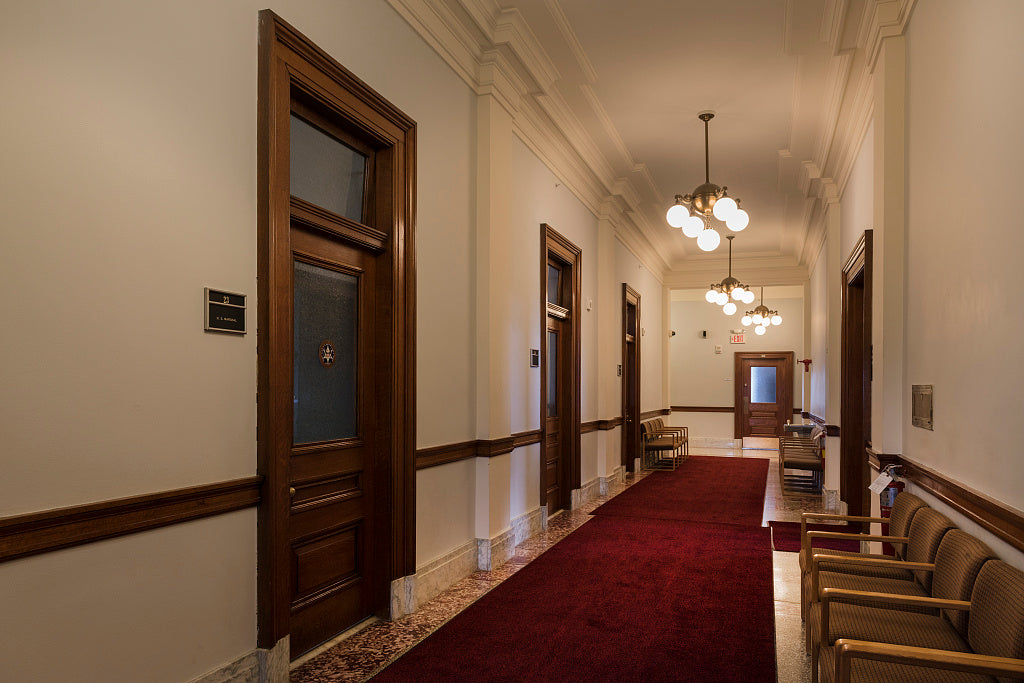18 x 24 Photograph reprinted on fine art canvas  of Corridor Federal Building and U.S. Courthouse Eau Claire Wisconsin  r27 41906 by Highsmith, Carol M.,