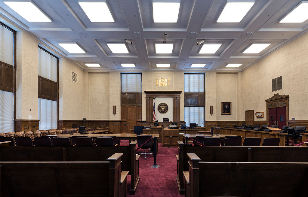 18 x 24 Photograph reprinted on fine art canvas  of Courtroom Federal Building and U.S. Courthouse Gainesville Georgia  r36 41914 by Highsmith, Carol M.,