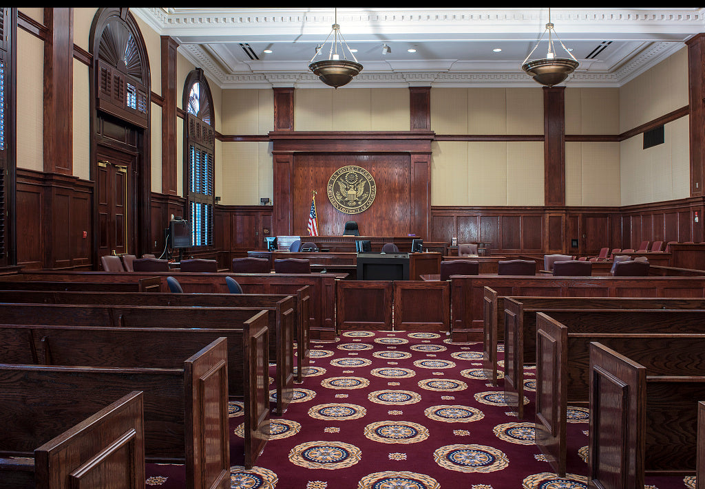 18 x 24 Photograph reprinted on fine art canvas  of Courtroom Federal Building and U.S. Courthouse Gainesville Georgia  r43 41914 by Highsmith, Carol M.,