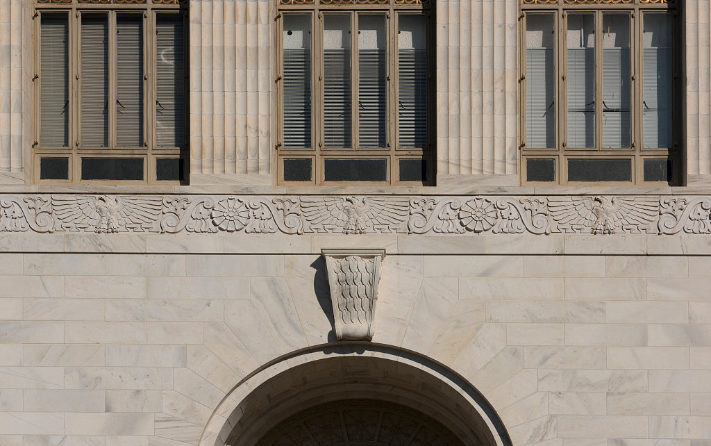 18 x 24 Photograph reprinted on fine art canvas  of Architectural details at the Federal Building and U.S. Courthouse Gainesville Georgia  r47 41914 by Highsmith, Carol M.,