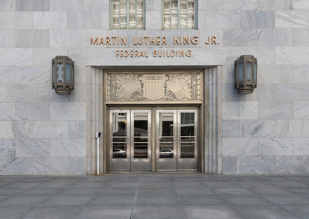 18 x 24 Photograph reprinted on fine art canvas  of Entrance doors Martin Luther King Jr. Federal Building Atlanta Georgia  r56 41913 by Highsmith, Carol M.,