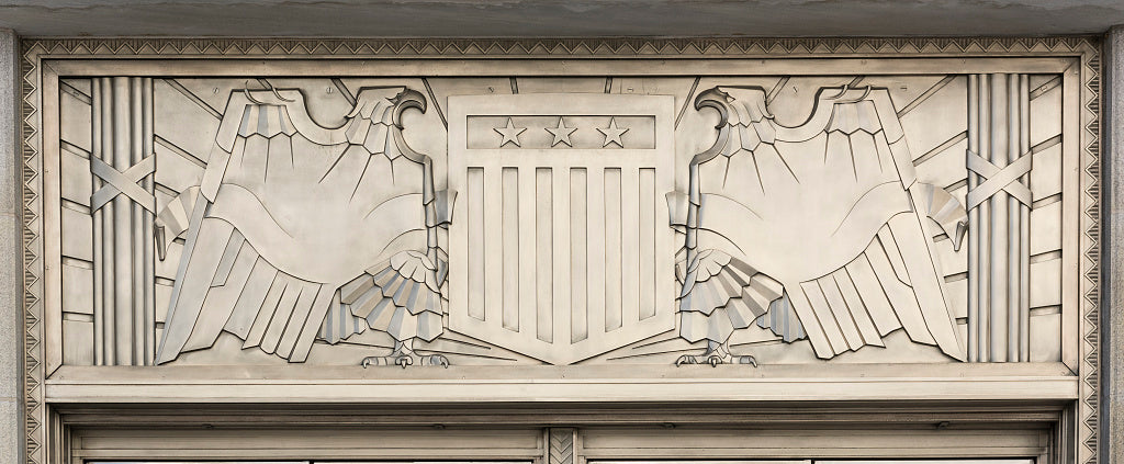 18 x 24 Photograph reprinted on fine art canvas  of Architectural detail with eagles at the Martin Luther King Jr. Federal Building Atlanta Georgia  r57 41913 by Highsmith, Carol M.,