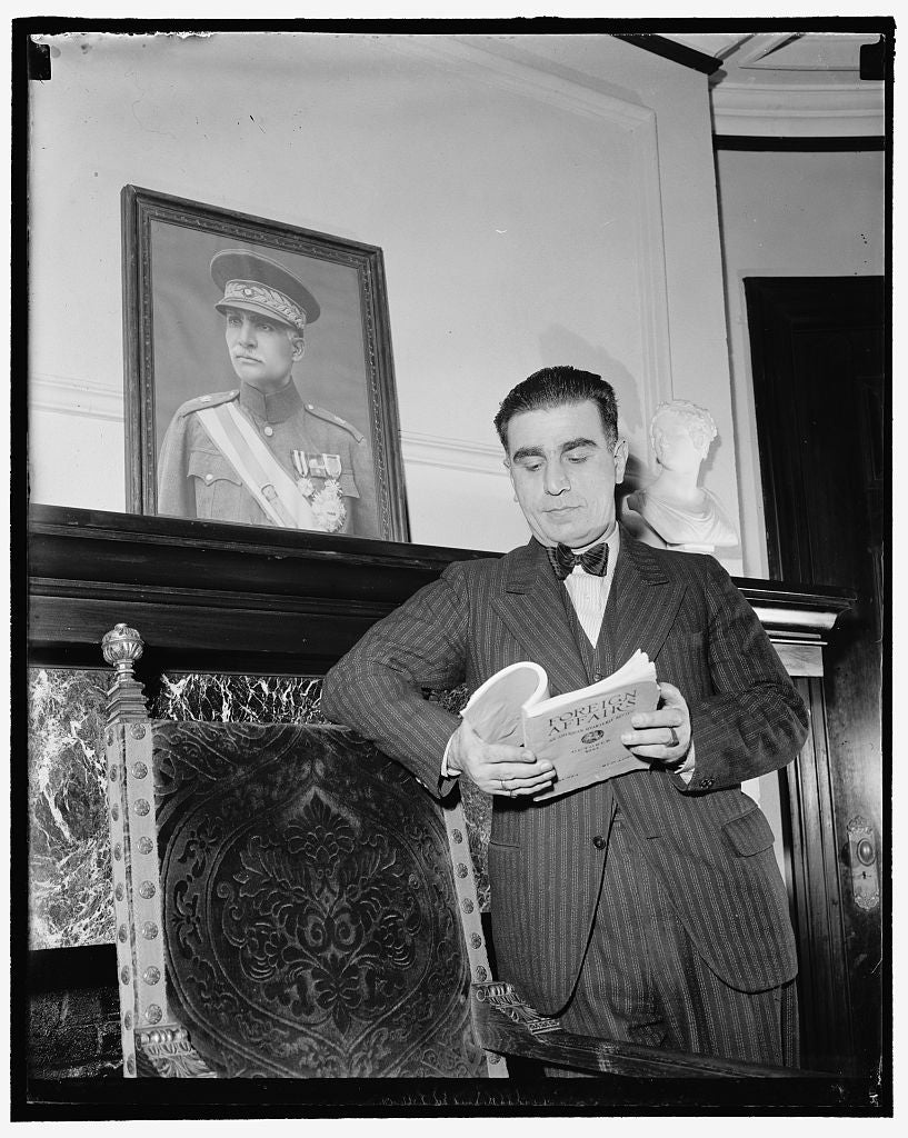 8 x 10 Reprinted Old Photo of Washington, D.C., Feb. 4. Dr. Ali Akbar Daftary, Charge D'Affaires For Iran, Today Took Up His Duties At The Iran Legation Signaling Reopening Of  1937 Harris & Ewing 99a