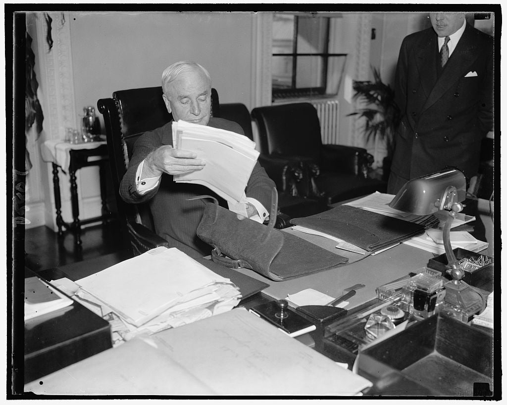 8 x 10 Reprinted Old Photo of Secy. Of State Cordell Hull 1938 Harris & Ewing 38a