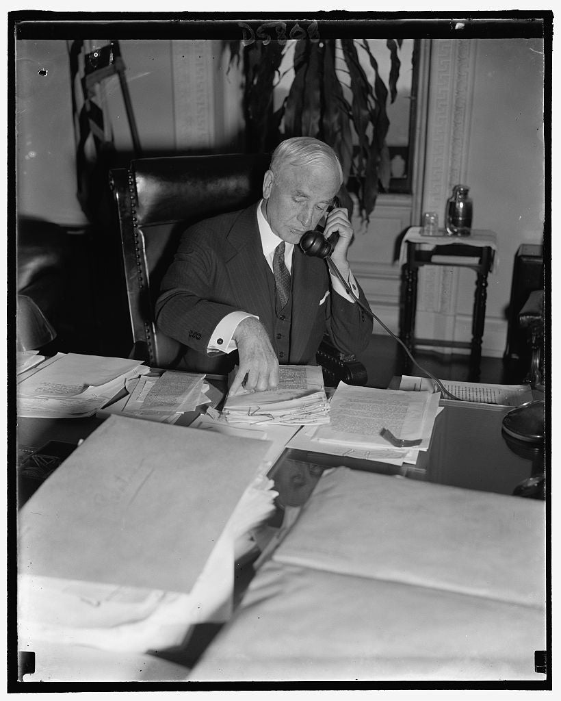 8 x 10 Reprinted Old Photo of Secy. Of State Cordell Hull 1938 Harris & Ewing 39a