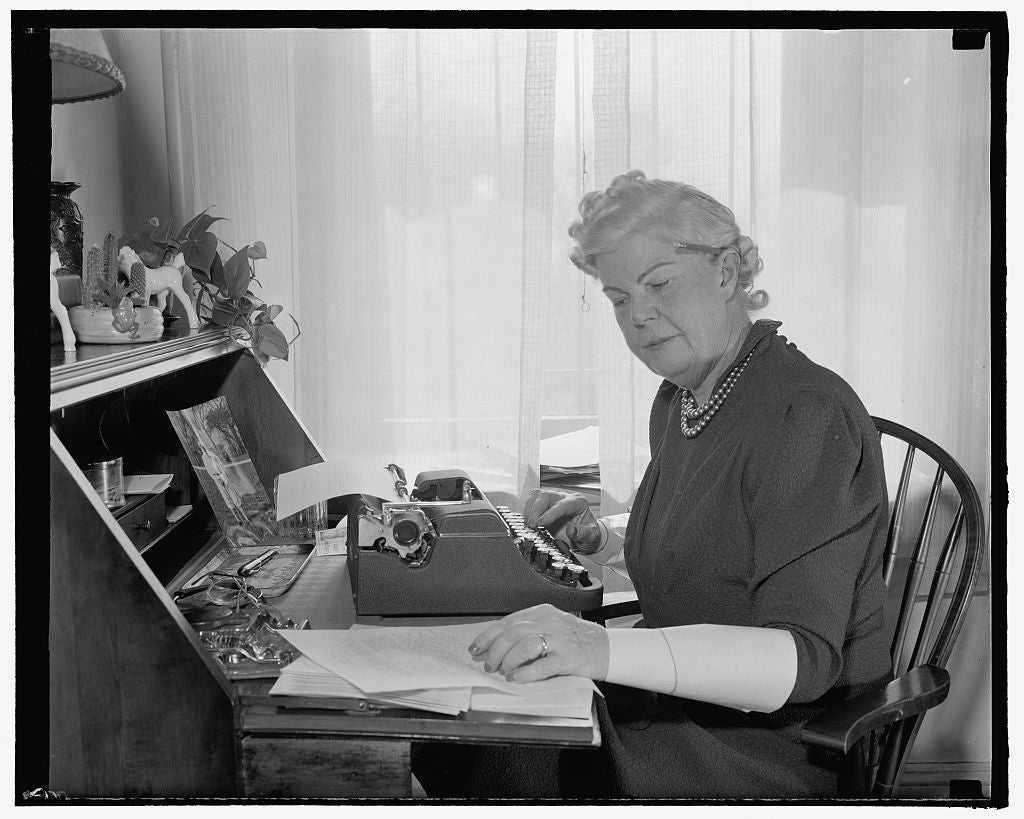 8 x 10 Reprinted Old Photo of Doubling In Brass. Washington, D.C., Feb. 27. In Addition To Her Duties As A Congressional Hostess, Mrs. William T. Byrne, Wife Of The Democratic  1938 Harris & Ewing 48a