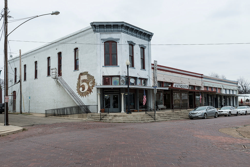 18 x 24 Photograph reprinted on fine art canvas  of Downtown streetscape in Clarksville Texas  r62 41677 by Highsmith, Carol M.,