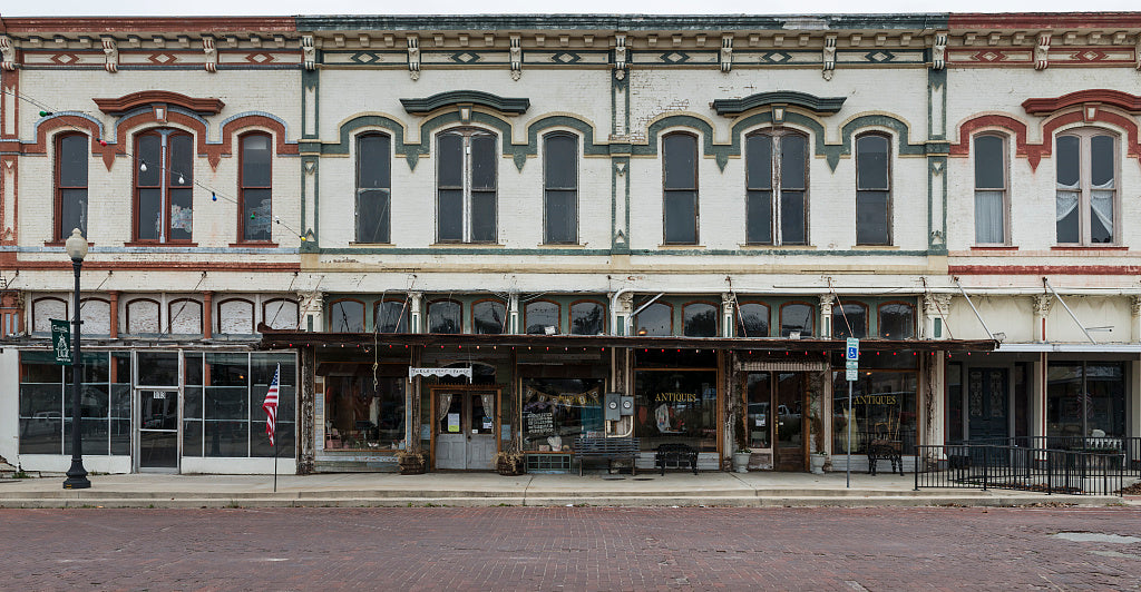 18 x 24 Photograph reprinted on fine art canvas  of  Downtown streetscape in Clarksville Texas  r64 41677 by Highsmith, Carol M.,