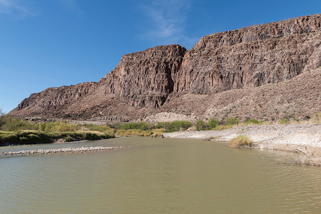 18 x 24 Photograph reprinted on fine art canvas  of Rock formations along Texas Rt. 170 which runs along the Rio Grande River through Big Bend Ranch State Park Texas  r81 41715 by Highsmith, Carol M.,