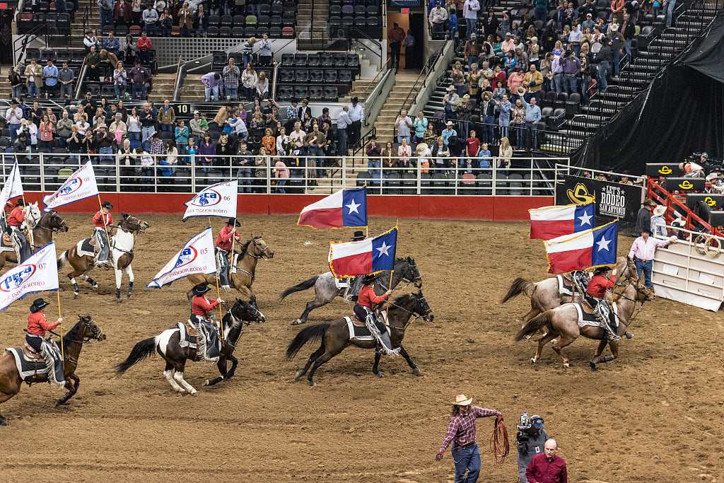 18 x 24 Photograph reprinted on fine art canvas  of Scene from the opening grand parade at the San Antonio Stock Show and Rodeo in San Antonio Texas  r61 41691 by Highsmith, Carol M.