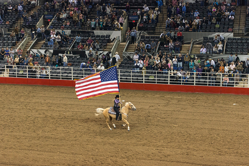 18 x 24 Photograph reprinted on fine art canvas  of Scene from the opening grand parade at the San Antonio Stock Show and Rodeo in San Antonio Texas  r62 41691 by Highsmith, Carol M.