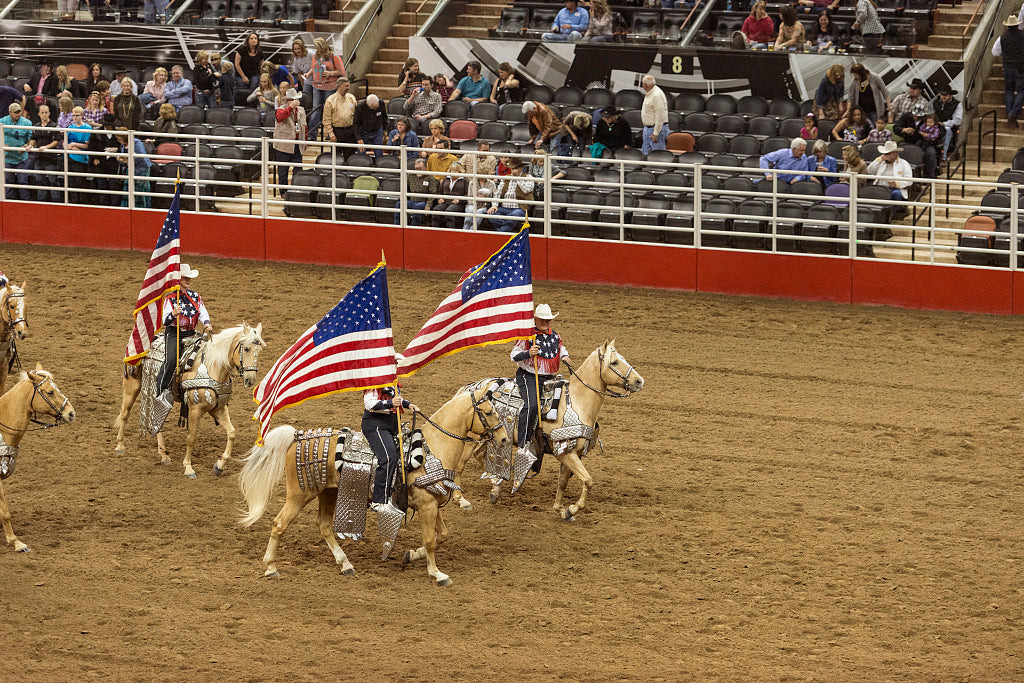 18 x 24 Photograph reprinted on fine art canvas  of Scene from the opening grand parade at the San Antonio Stock Show and Rodeo in San Antonio Texas  r64 41691 by Highsmith, Carol M.