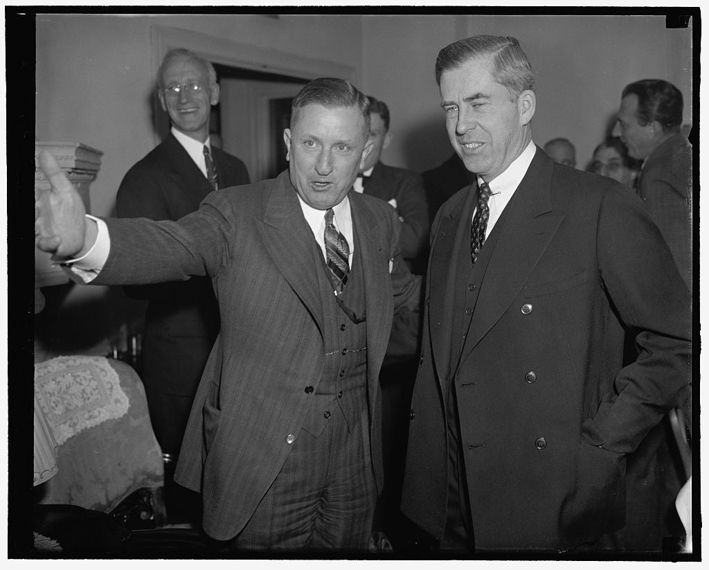 8 x 10 Reprinted Old Photo of Henry A. Wallace, Right 1937 Harris & Ewing 86a
