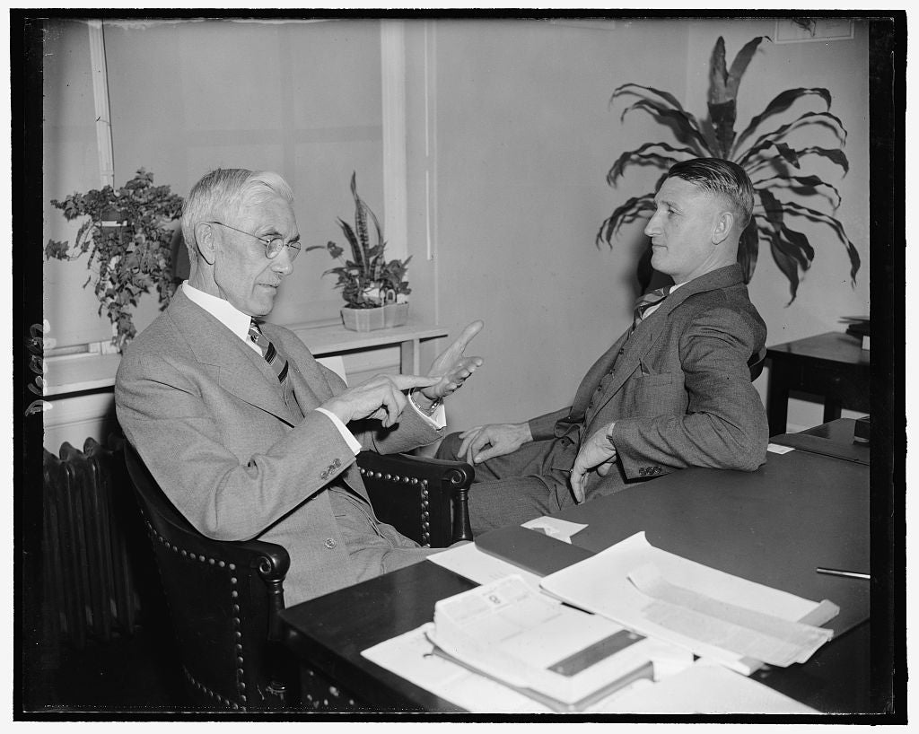8 x 10 Reprinted Old Photo of Dr. Francis Townsend & Rep. A.J. Elliott 1937 Harris & Ewing 88a