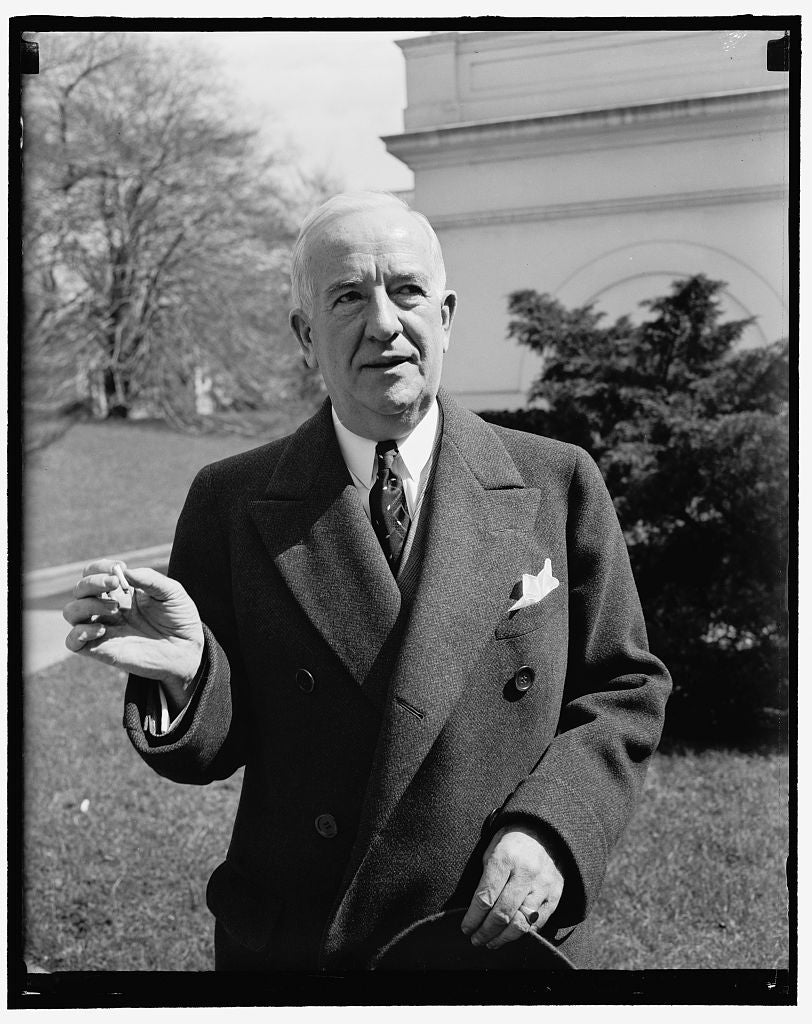 8 x 10 Reprinted Old Photo of Washington, D.C., March 17. A New Informal Picture Of Rep. John J. Dempsey, Congressman-At-Large From New Mexico, 3-17- 39 1937 Harris & Ewing 04a