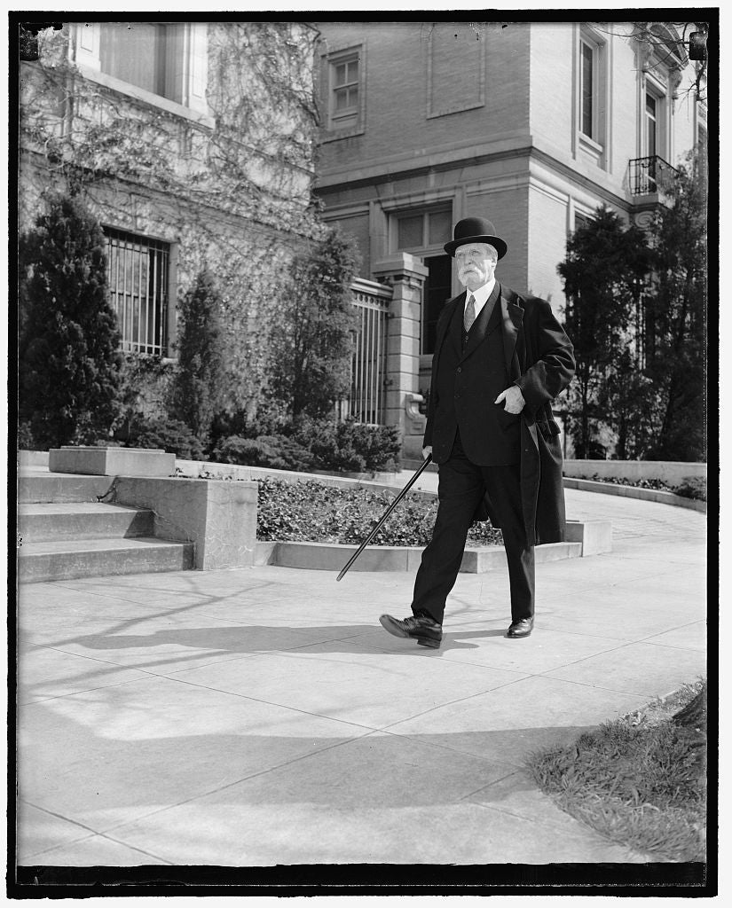 8 x 10 Reprinted Old Photo of Chief Justice. Washington, D.C., April 12. A Brisk Walk Daily Is The Regular Routine Of Chief Justice Charles Evans Hughes Of The Supreme Court. T 1937 Harris & Ewing 53a