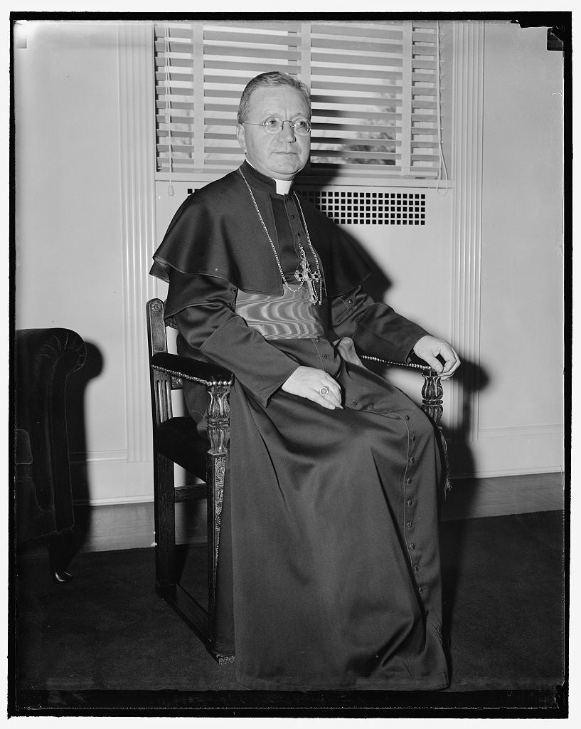8 x 10 Reprinted Old Photo of Most Rev. Amleto Givanni Cicognani 1937 Harris & Ewing 22a