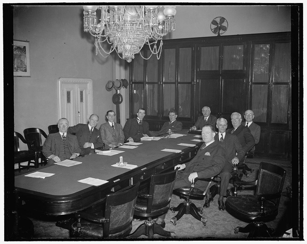 8 x 10 Reprinted Old Photo of House Rules Committee 1937 Harris & Ewing 53a