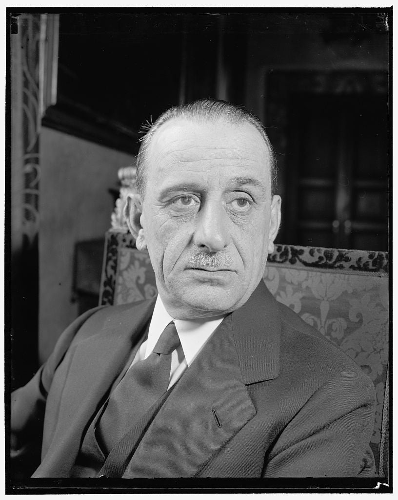 8 x 10 Reprinted Old Photo of Italian Ambassador. Washington, D.C., April 27. The New Italian Ambassador To The United States, Don Ascanio Dei Principi Colonna, From An Informa 1938 Harris & Ewing 57a