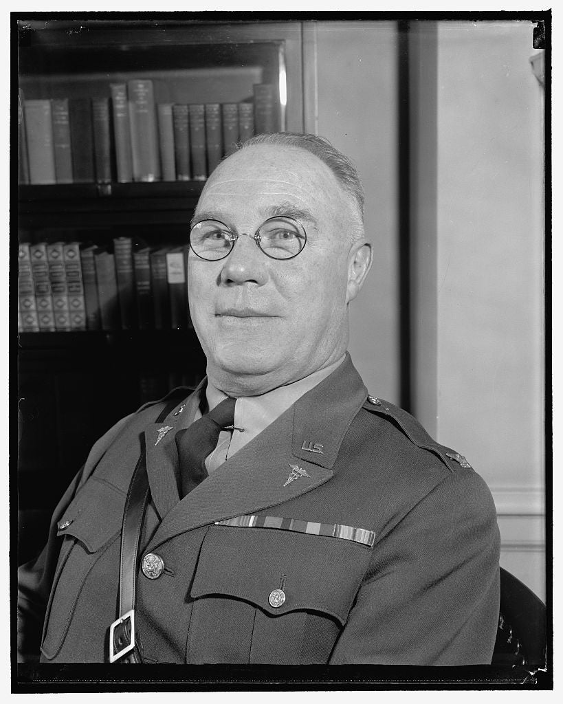 8 x 10 Reprinted Old Photo of Named U.S. Chief Of Staff. Washington, D.C., April 24. Brig. Gen. George Catlett Marshall, Who Was Today Nominated By President Roosevelt To Be U. 1938 Harris & Ewing 60a
