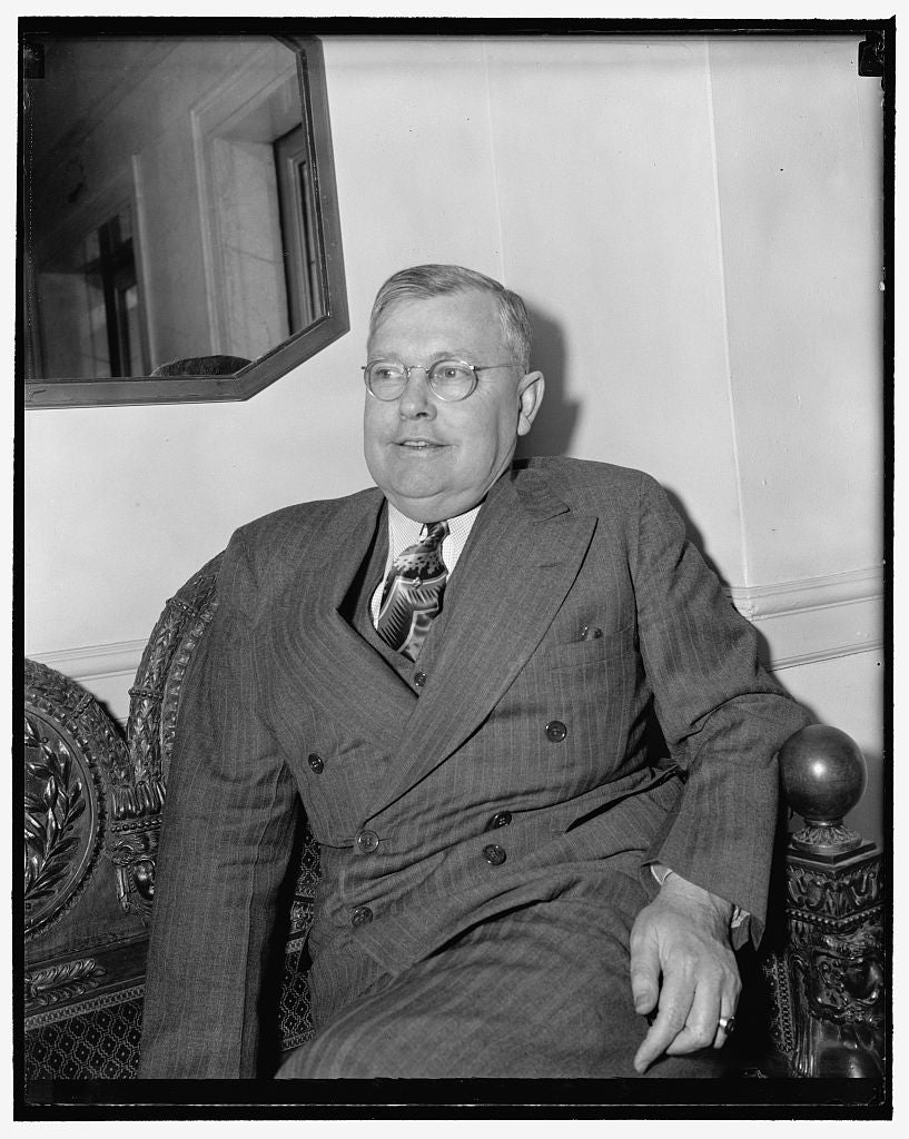 8 x 10 Reprinted Old Photo of President Of U.S. Attorneys. Washington, D.C., April 27. An Informal Picture Of Benjamin Harrison, U.S. Attorney From The Southern California Dist 1938 Harris & Ewing 62a