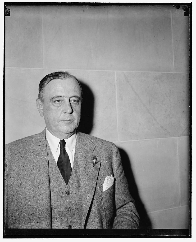 8 x 10 Reprinted Old Photo of Chairman Of Board Reynolds Tobacco Co. Washington, D.C., May 2. A New Informal Photograph Of S. Clay Williams, Chairman Of The Board, R.J. Reynold 1939 Harris & Ewing 89a