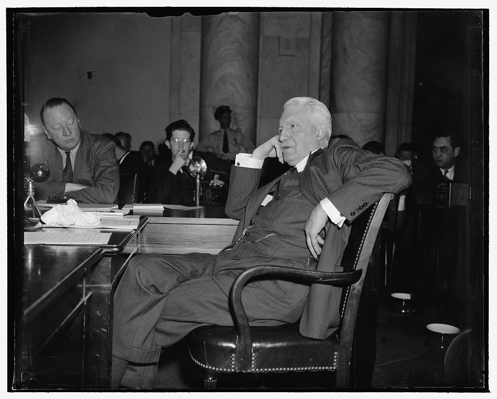 8 x 10 Reprinted Old Photo of Former Secretary Of State Warns Senate Against Broad Presidential Discretion In Foreign Affairs. Washington, D.C., May 4. Appearing Before The Sen 1939 Harris & Ewing 17a