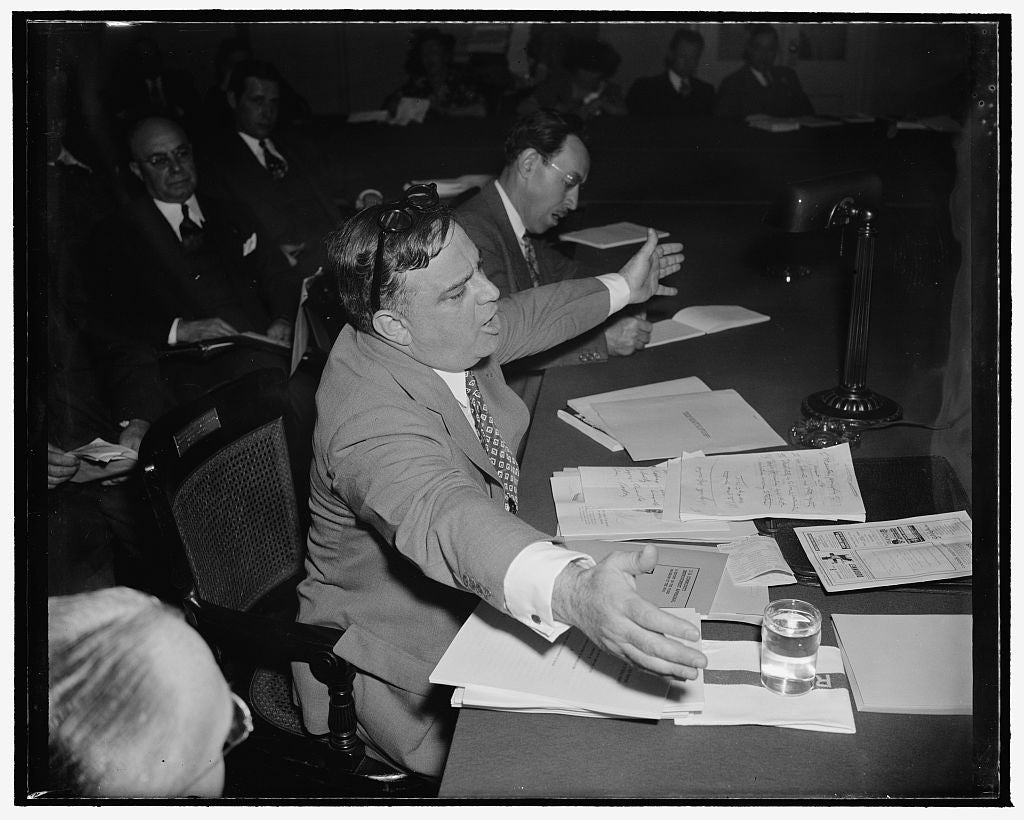 8 x 10 Reprinted Old Photo of Manhattan Mayor Praises Relief Program. Washington, D.C., May 8. Mayor Fiorella La Guardia, Mayor Of New York, Testified Before The House Wpa Inve 1939 Harris & Ewing 30a