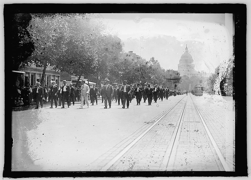16 x 20 Reprinted Old Photo ofParade, Wash., D.C. 1925 National Photo Co  68a